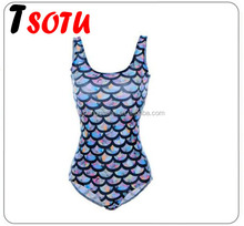 YJB15 Mermaid women fashion slim Crystal scale triangular one-piece Swimsuit se diving wetsuit