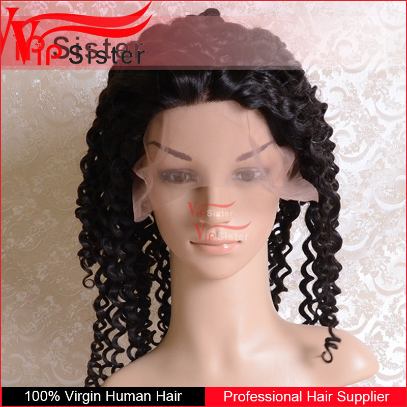 Full Cuticle Natural Color brazilian lace front wig