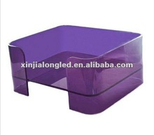 Half Open Square Purple Acrylic Pet Dog Bed Acrylic Puppy Beds and Accessories