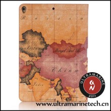 Ultramarine Marco Polo World Map Folding Stand Wallet For iPad 2 3 4 Map Case