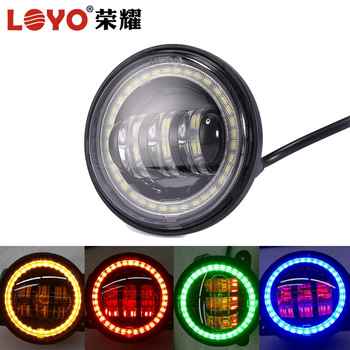 "High quality lamp 4.5"" 4 1/2"" LED auxiliary halo DRL LED fog passing lights for motorcycle"