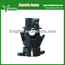 Electric fence rod post insulator for metal pole
