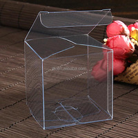 Custom food candy pp pvc pet plastic transparent clear boxes