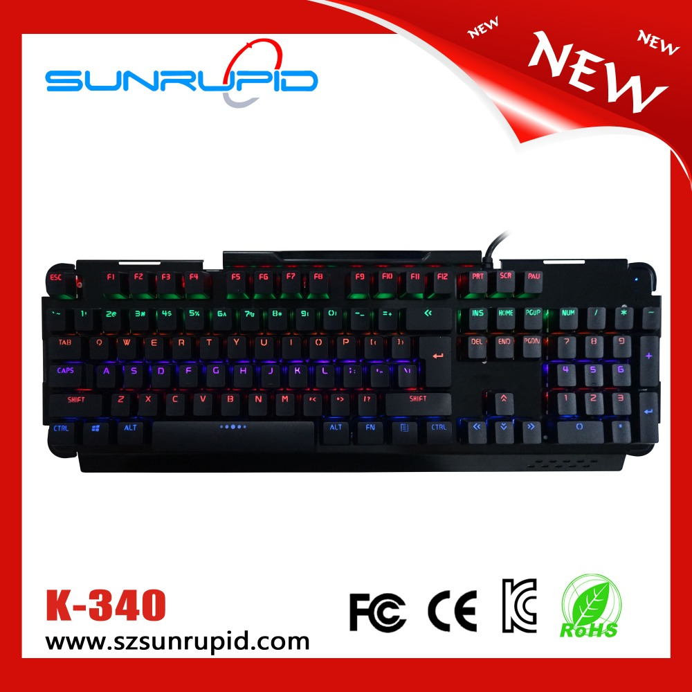 Newest Colorful LED Light Cherry MX Mechanical Gaming Keyboard