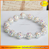 Crystal Disco Ball Beads with Large Hole Beads