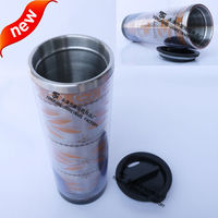 2015 Newest Double Wall Acrylic Tumbler With Paper Insert To Canada