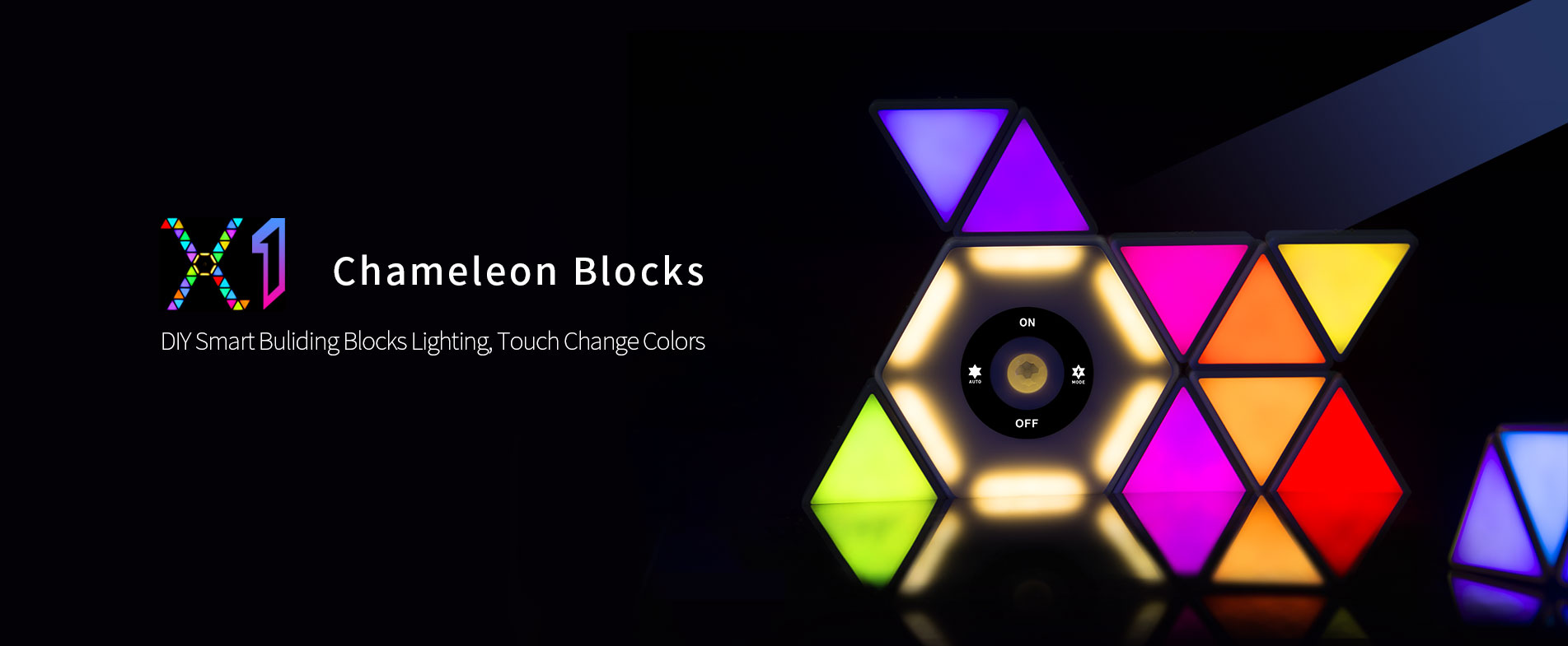 Chameleon Blocks 1 Smart Lighting Magnetic Blocks Bedroom Light