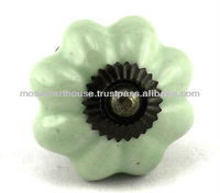Melon Shaped Ceramic Knob