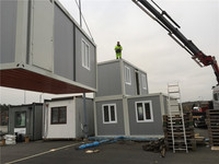 Environmental Friendly Glass Furnishing prefab steel home modular container house