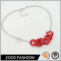 Fashion cheap jewelry accessory plastic clasp chain necklace for kids