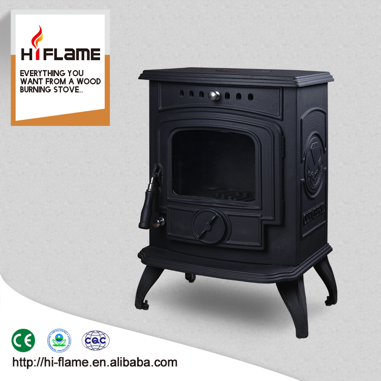 Besting-selling 5KW real fire cast iron wood stove doors with glass HF332