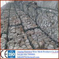 gabion box ,stone cage nets,anping factory galvanized welded gabion basket