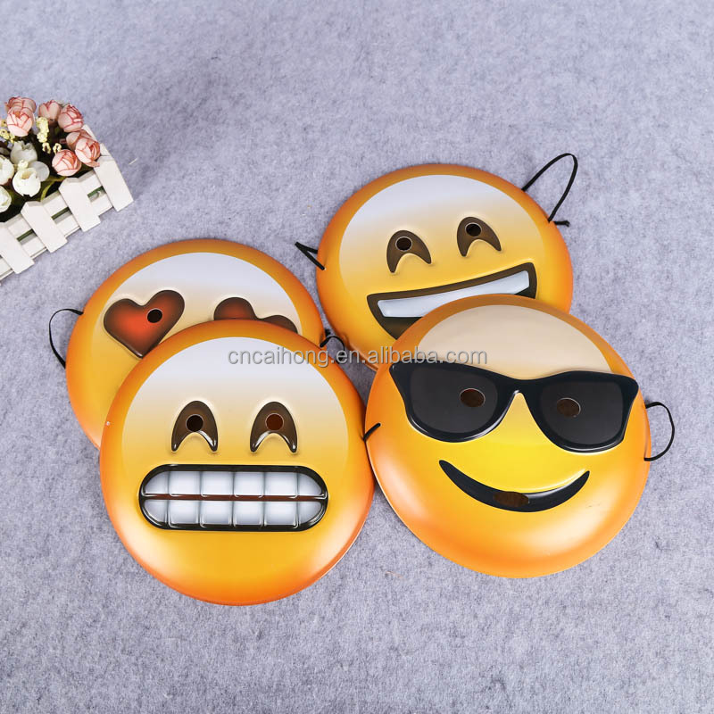 hard plastic pvc emoji mask face mask party mask for children