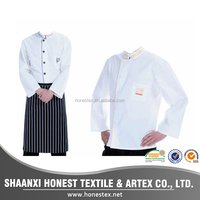 logo custom100%cotton kitchen chef uniform , executive chef uniform , chef coat uniform