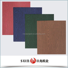 wood design packing paper for note book cover & paper packing bag, paper packing box