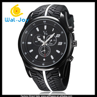 WJ-5272 silicone band fashion V6 brand atractive big face casual stainless steel back men sport watch