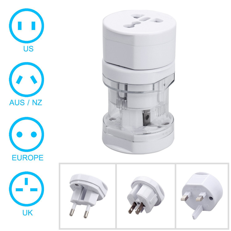 4 in 1 universal travel adapter converter plug /small rounded all in one travel adapter