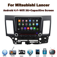 "8"" Capcitive Screen Android 4.4 Car DVD GPS for Mitsubishi Lancer With Wifi 3G GPS Bluetooth Radio RDS USB IPOD Steering wheel"