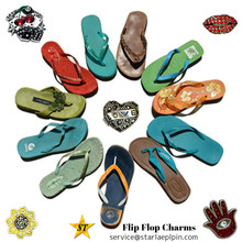 bulk latest design custom flip flops charms