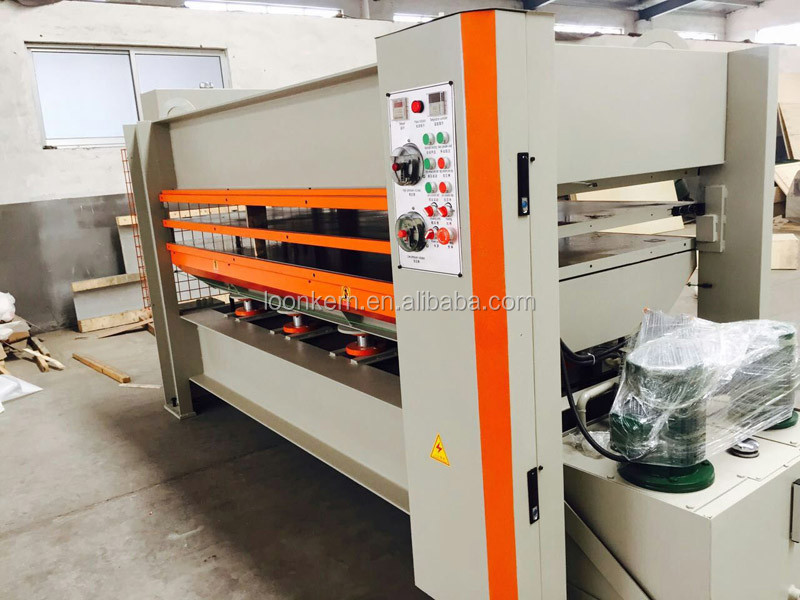 flush door making machine with electric heating equipment