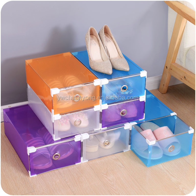 Wholesale Clear Waterproof Eco-friendly Transparent Plastic Shoe Storage Box