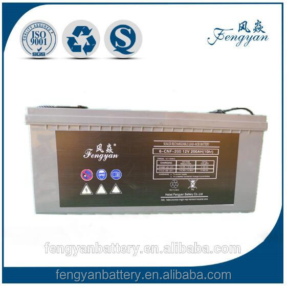 maintenance free 12V 200ah deep cycle solar battery gel