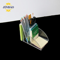 JINBAO Bespoke Transparent Acrylic Desk Organizer For Office And Study