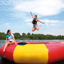 Custom exciting jumping sea inflatable water trampoline/giant inflatable floating water park for adult and kids