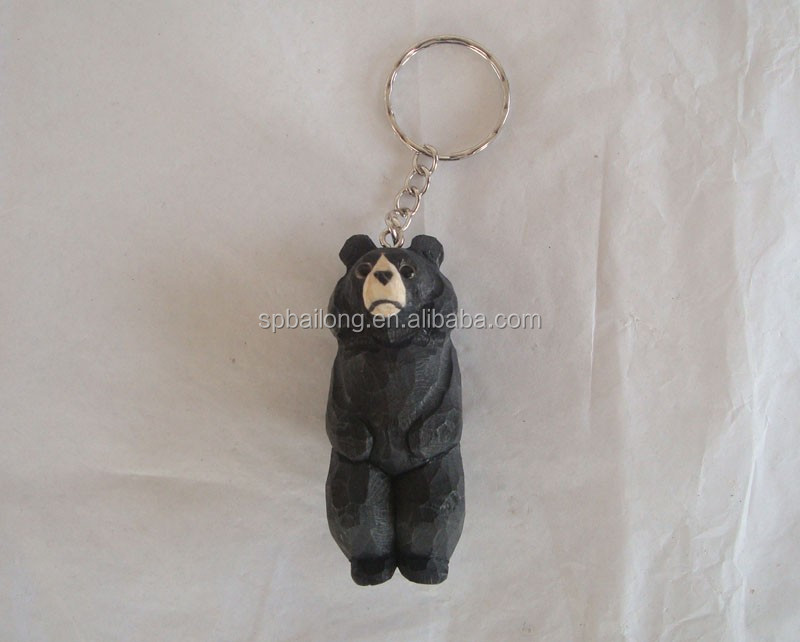 2016 fashion design 3d animal shaped <strong>wooden</strong> keychain