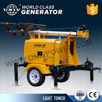 Trailer type mobile light tower 9m diesel generator set