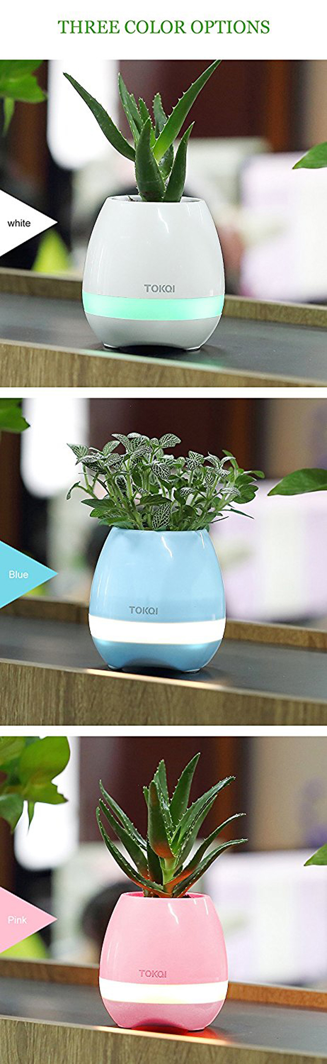 Factory Wholesale waterproof bluetooth speaker Led lamp singing smart music flowerpot