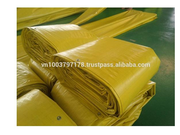 190 GSM Yellow Tarpaulin made in Vietnam Korean standard
