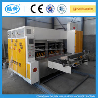Automatic corrugated carton printing slotting machine to make cardboard boxes used flexo printer slotter for sale