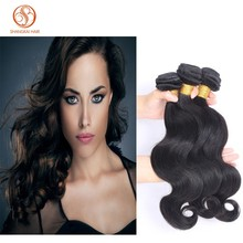 Best Selling 3pcs Mix 10-30inches Body Wave Brazilian Virgin Human Hair Weft Extension machine Hair Weave Natural Color 100g/pc