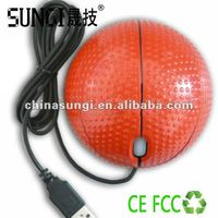 Promotional mini wired round mouse football mouse
