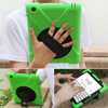 Silicone rotating handstrap tablet skin shock absorbing protective case for iPad 2 3 4 9.7inch iPad cover with shoulder belt