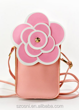 Flower Shaped PU Cute Girls Coin Purses