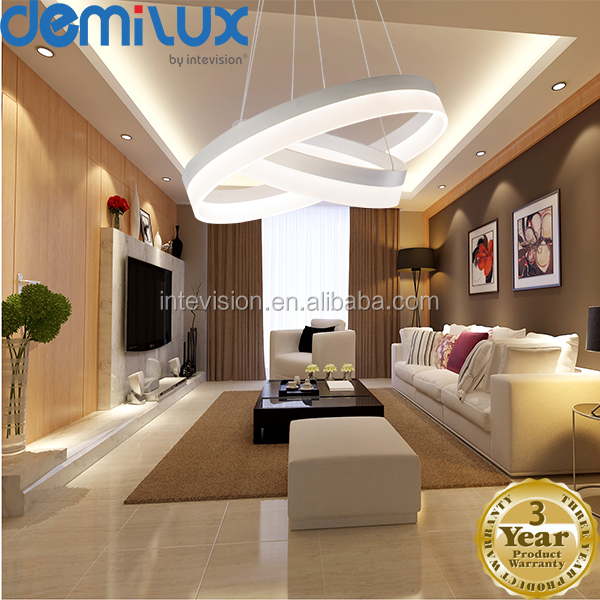Hot sales led ring lamp acrylic ceiling lighting chanderlier modern led pendant light