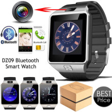 Factory price 1.54'' Touch Screen DZ09 The Best Bluetooth Hand Cell Phone Smart Watch Mobile Phone