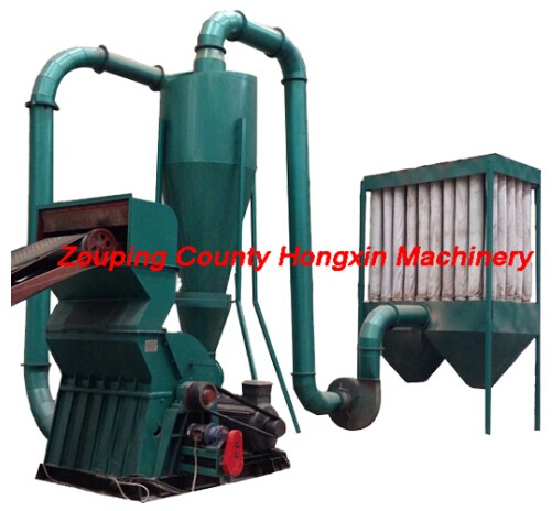 sawdust machine with dust removal system