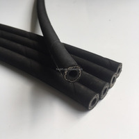 25m Long Black Rubber Hose, Applications Diesel, Oil, Paraffin, 6mm Inner Diam