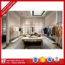 Custom high end wooden clothing store display showcase