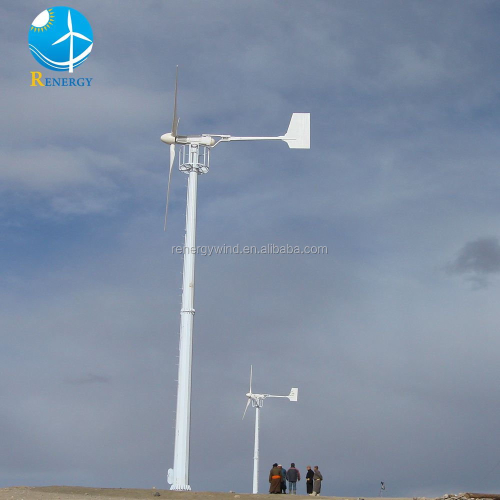 Personal system 3-phase AC wind power generator permanent radial magnetic 10KW wind turbines price