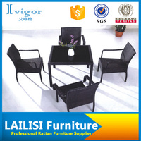 High top leisure patio cheap bistro wicker dining table set