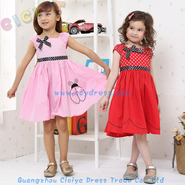 Latest Simple Design Cotton Frock For Small Girls Casual