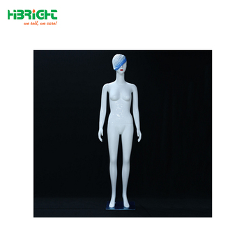 plastic sitting female mannequin for fashion window display