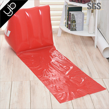 Hot selling pvc inflatable beach seat cushion, camping air nflatable wedge cushion with backrest i