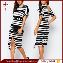 Lady clothing manufacturer V-back ladies office wear dress