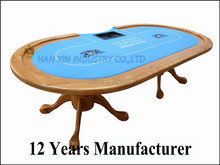 Wholesale Casino 2 in 1 race track Texas poker table dimension with speed cloth