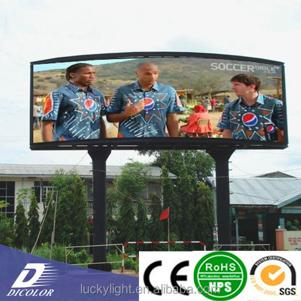 led commercial advertising display screen outdoor p10